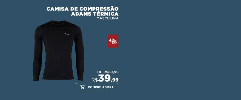 Camisa de Compressão Manga Longa Adams Térmica