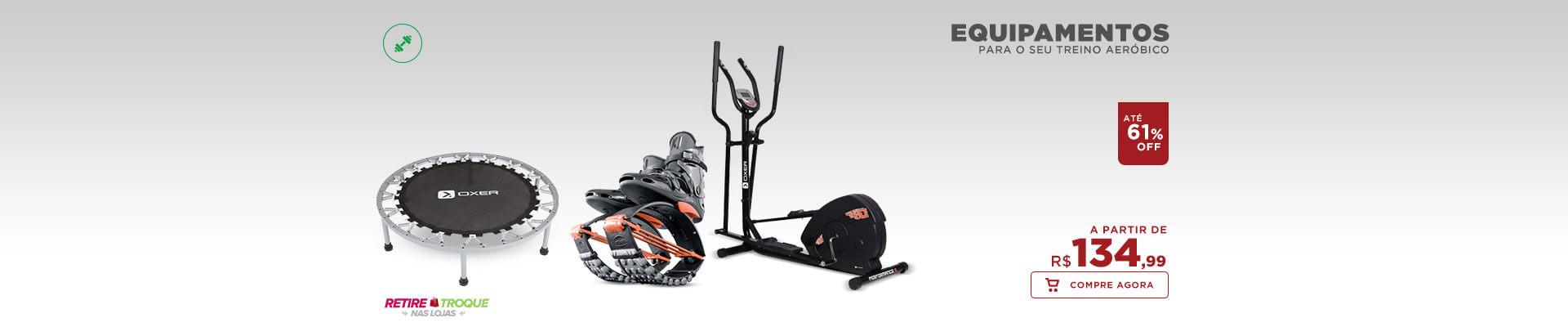 Equipamentos para seu treino aeróbico