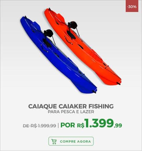 Caiaque com 1 Remo Caiaker Fishing