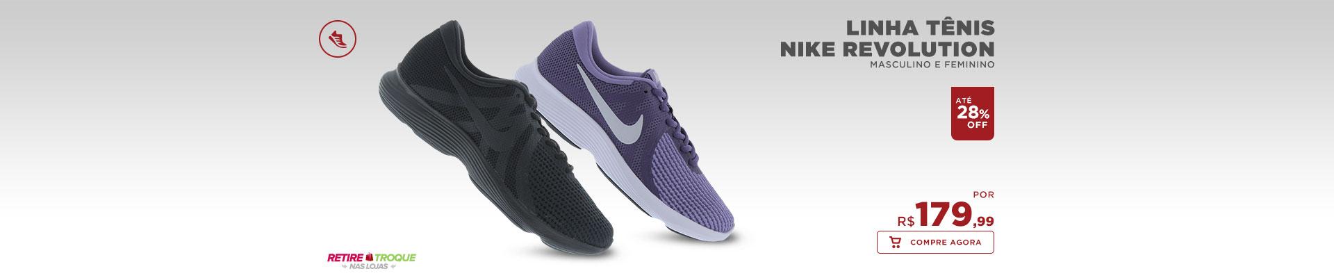 Linha Tênis Nike Revolution