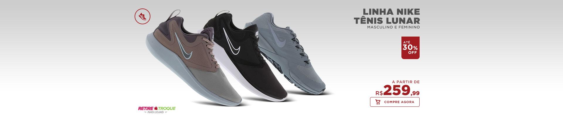 Linha Nike Tênis Lunar