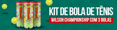 Kit de Bola de Tênis Borracha Wilson Championship com 3 Bolas
