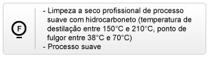 limpeza a seco profissional com hidrocarboneto em processo suave